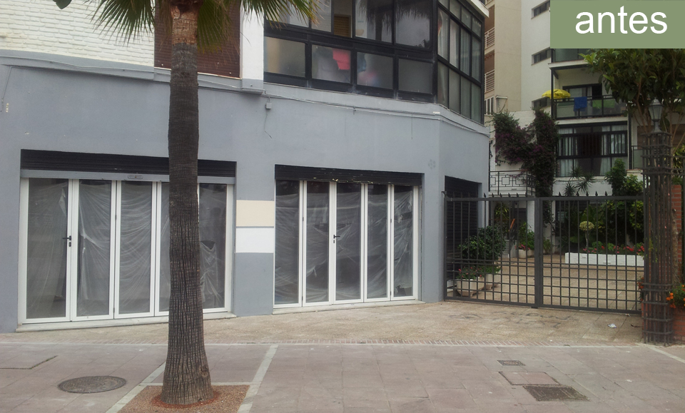 fachada restaurante antes