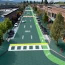 Carreteras con placas solares instaladas